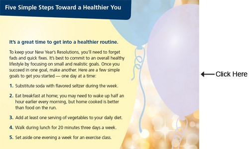 Keep Your New Year's Health Resolutions