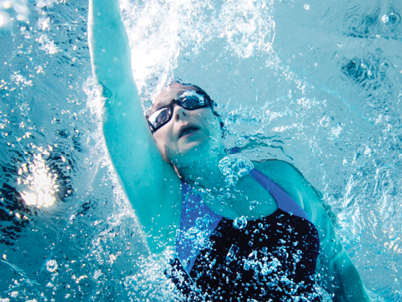 Something threatened this swimmer's athletic lifestyle when she developed an irregular beat in the upper chambers of her heart.