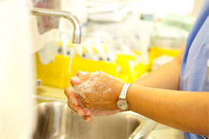 Hand washing to prevent the spread of germs is just one of many ways Montefiore medical Center ensures its patients' safety every day.