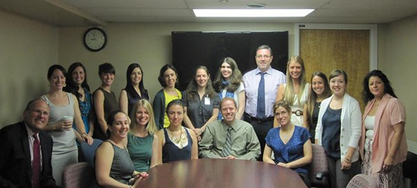 2012-13 Interns and Faculty at the First Day Orientation Meeting.