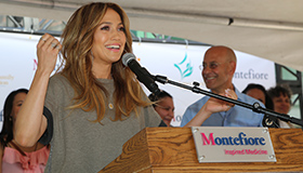 Jennife Lopez at Montefiore Health Fair