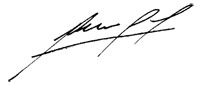 signature of Dr. Mario Garcia