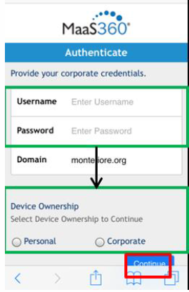 Enterprise Mobility Management (EMM) - New Corporate Device