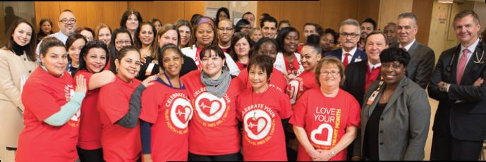 Montefiore associates kicked off Heart Month February 1 on the Moses Campus.