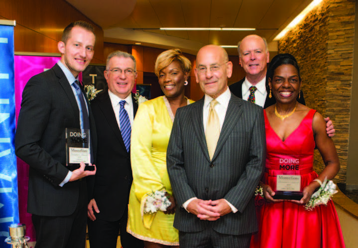 Steven M. Safyer, MD, President and CEO, Montefiore Medicine, with the 2017 President's Award winners
