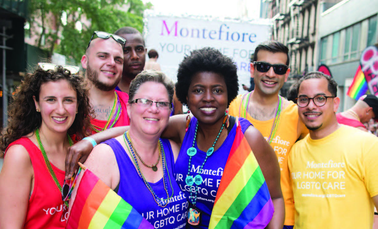 Montefiore associates marched in NYC Pride for the third year in a row.