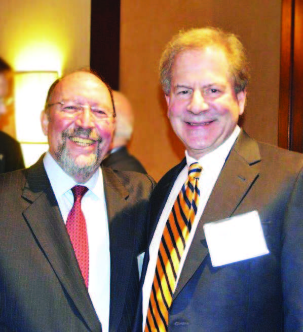 From left to right: Marvin Fried, MD, Chair, ORL; Robert Glazer, MD, CEO, ENTA