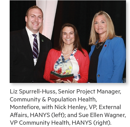 Montefiore was awarded the Healthcare Association of New York State's (HANYS) 2019 Community Health Improvement Award for its outstanding Healthy Food Initiative