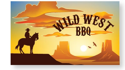 Wild West BBQ at the Moses Campus outdoor gardens