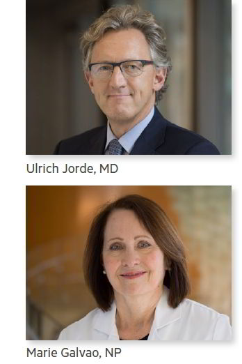 Ulrich Jorde, MD and Marie Galvao, NP